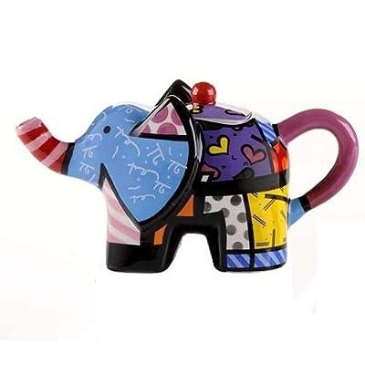 Romero Britto Giftcraft Mini théière éléphant 15 x 7,5 cm