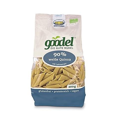 GOVINDA Goodel weisse Quinoa Leinsamen 200g (bio, roh, vegan) glutenfreie Nudeln
