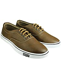 Tycos Brown Canvas Shoes For Men & Boys - B0755HLF26