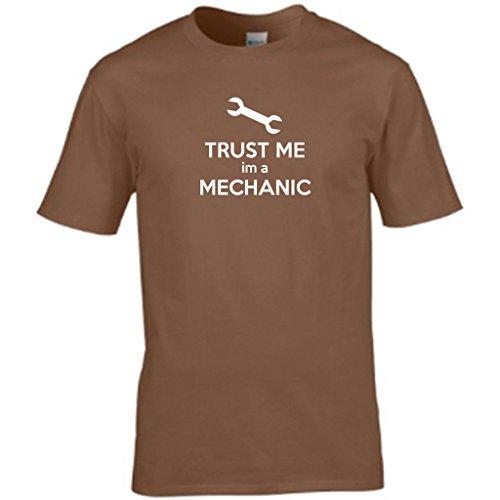 Vertrauen Sie mir, A IM MECHANIC-Design Herren t shirt Braun - Braun
