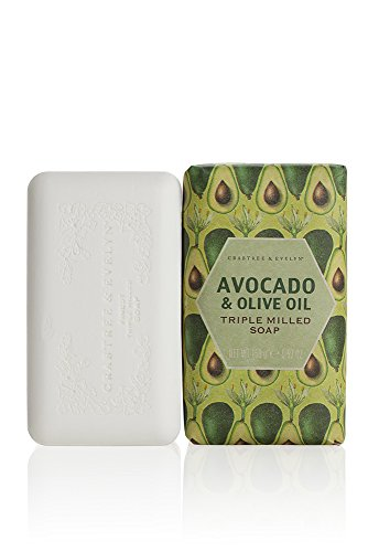 Crabtree & Evelyn Avocado and Olive Oil triple milled soap, 1er Pack (1 x 158 g) - Olive Avocado
