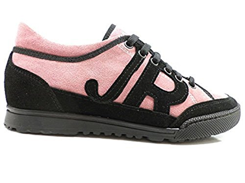 scarpe donna RICHMOND 36 sneakers rosa nero camoscio AW710