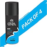 Deodrant For Men Cobra COOL Limited Edition Spray 150ml Pack Of 4