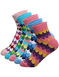 Supersox Kid's Pack of 5 Ankle Combed Cotton Socks Combo-5
