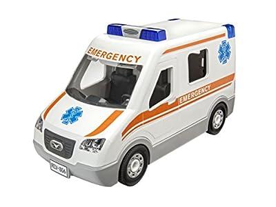 Revell 00806 Junior Kit Krankenwagen Auto Modellbausatz für Kinder zum Schrauben, robust zum Basteln und Spielen, ab 4+, kindgerecht, müheloses Verbinden weniger Teile, mit Aufklebern - AMBULANCE von Revell
