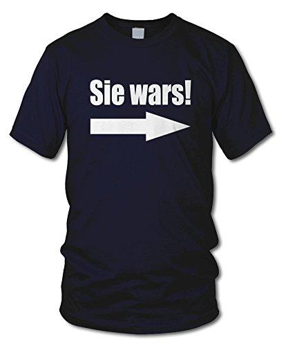 shirtloge - SIE WARS! - KULT - Fun T-Shirt - in verschiedenen Farben - Größe S - XXL Navy