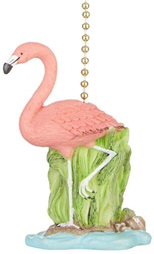Tropical Pink Flamingo Tiki Decor Deckenventilator Pull -