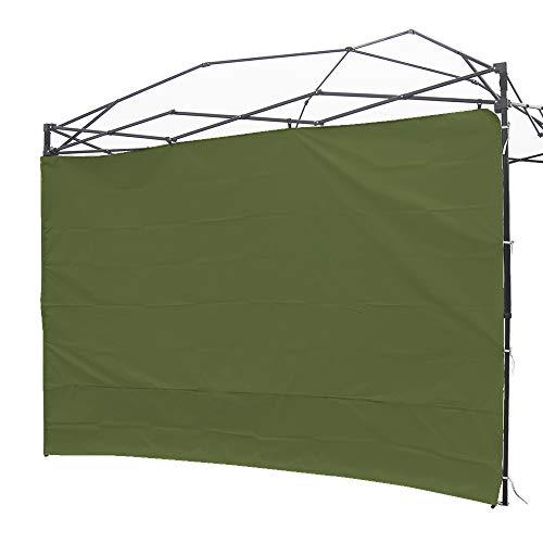 NINAT Seite Seitenmarkise Sonnenschirm Privatsphäre Panel Wand für 3 M Gartenlauben/Canopy Zelt Wasserdicht (Pavillon Rahmen Nicht inbegriffen) Grey Panel Wall - Green -
