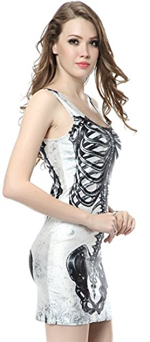 Thenice - Robe - Trapèze - Femme Big Bang Taille Unique skeleton