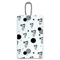 Luggage Card Suitcase Carry-On ID Tag - Stick Figure Family