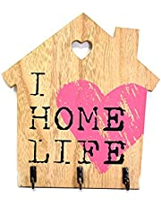 Scrafts Pink wooden Home Life multipurpose decorative wall
