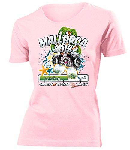 Mallorca 2018 Loading 5984 Spanien Party Sauf Bieren Damen Fun-T-Shirts Rosa L