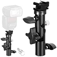 TFJ - Soporte de luz giratorio tipo E, profesional y universal, zapata para flash con soporte para paraguas, para Canon, Nikon, Sony, Pentax, Olympus y otras DSLR y Studio LED