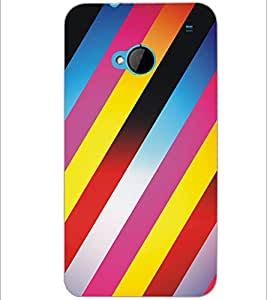 PrintDhaba Pattern D-5305 Back Case Cover for HTC ONE M7 (Multi-Coloured)