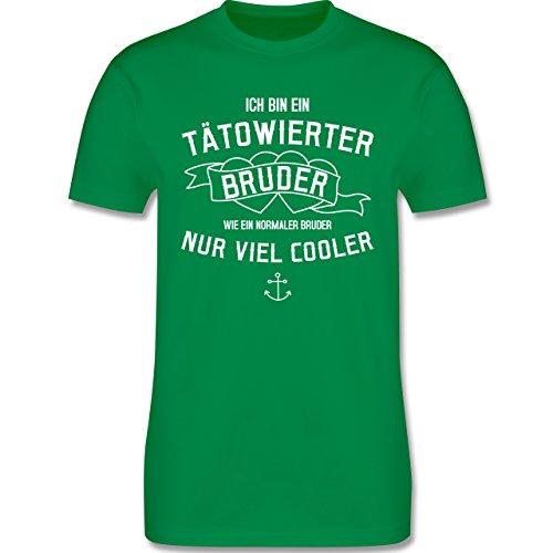 Bruder & Onkel - Ich bin ein tätowierter Bruder - Herren Premium T-Shirt Grün