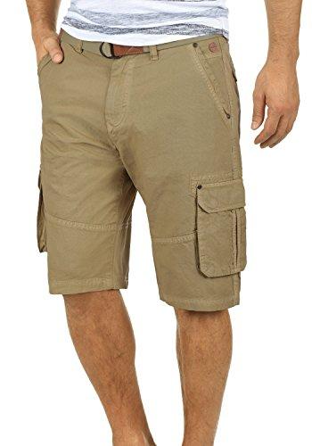 BLEND Renji Herren Cargo-Shorts kurze Hose mit Taschen aus 100% Baumwolle, Größe:L, Farbe:Lead Gray (70036) (Baumwoll-shorts Grays)