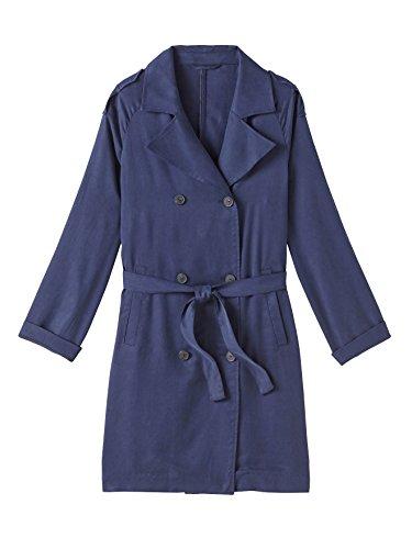 Balsamik - Trench fluido, statura - di 1,60 m - donna - Size : 54 - Colour : Blu