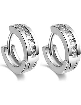 Hosaire Ohrringe Persönlichkeit Feminine Shine silber zu einer Reihe der Nägel Ohrringe Diamant Frau Geschenk...