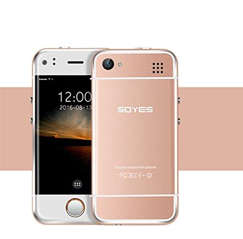 """Hipipooo Mini Rest-Pocket Phonebaby Smartphone GSM entsperrt 2,45 """"WIFI Android 5.1 Munti-Touch kapazitiven Bildschirm für Studenten und Kinder (Rosen-Gold)"""