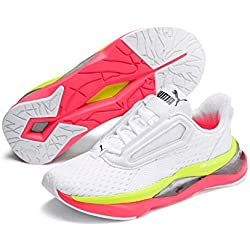 PUMA LQDCell Shatter XT Wn's, Zapatillas Deportivas para Interior para Mujer, White-Pink Alert, 40.5 EU