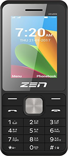 ZEN Ultra 502 Dual SIM Feature Phone (Black-Blue) image