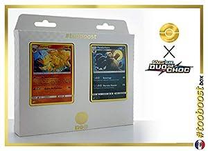 Feunard (Ninetales) 16/181 Y Pandarbare (Pangoro) 94/181 - #tooboost X Soleil & Lune 9 Duo de Choc - Box de 10 Cartas Pokémon Francés + 1 Goodie Pokémon