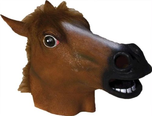 lloween Kostueme Maske Gesicht Maske Over-the-Head-Maske Kostuem Stuetze Scary Creepy Schreckliche Maske Latex Maske fuer Maskerade Make-up Party (Scary Halloween-kostüme Für Pferde)