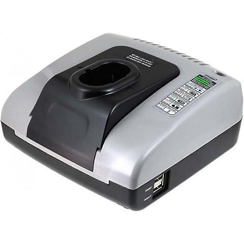 Powery Cargador de batería con USB para Makita Linterna / Lámpara Portátil ML900