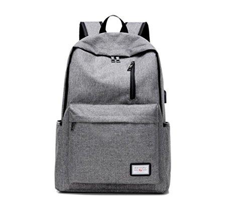 Suzone multifunzionale zaino Business laptop con porta USB di ricarica per esterni viaggi escursioni borsa a tracolla, donna Uomo, Grey Blue