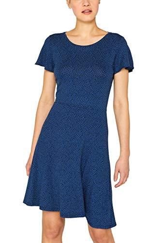 ESPRIT Damen 049EE1E001 Kleid, Blau (Bright Blue 410), Large (Herstellergröße: L) -