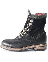 51e067ed3b1c91 NZA New Zealand Auckland Herrenschuh Stiefel Boots Echtleder schwarz Größe  41