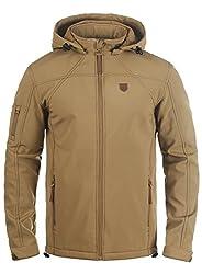 INDICODE Jonas Herren Softshell-Jacke Outdoor Übergangsjacke mit Kapuze aus winddichtem und hochwertigem Material, Größe:XXL, Farbe:Cumnin (014)