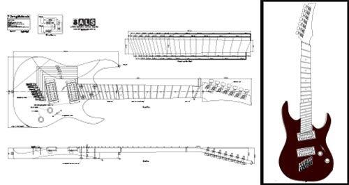 7-saitige multiscale E-Gitarre Plan-Full-Scale Print (Sieben-saitige Gitarre)