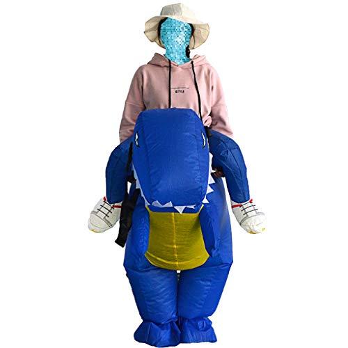 SM SunniMix Aufblasbare T Rex Dinosaurier Reiter Kostüm / Anzug für Weihnachten Karneval und Cosplay ()