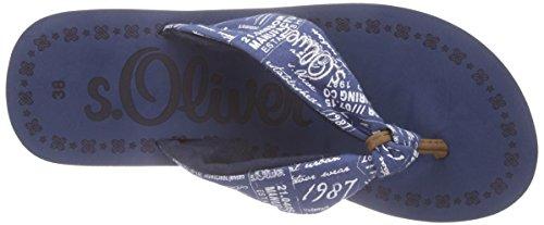 s.Oliver - 27103, Sandali infradito Donna Blu (Blau (DK BLUE COMB 859))
