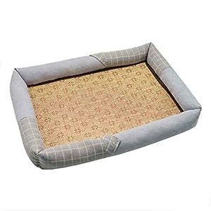 Hundebett wasserdicht Sommer Haustier Hund Matte Klimaanlage Kühlung Zwinger für große kleine Stil 1_XL
