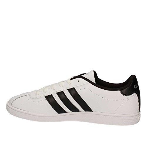 adidas Herren Vlcourt Sneaker, Schwarz, 40 EU weiß