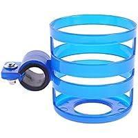 Biberón del sostenedor de taza para carrito silleta, plástico universal Cochecito soporte para botella de soporte de la bicicleta titular de la botella Organizador (azul)