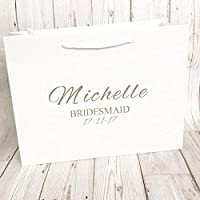 Personalised Gift Bag Bridesmaid Wedding Party Black Or White Box