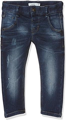 NAME IT Nittingo Bag/Slim Dnm Pant Nmt Noos, Jeans Garçon, Bleu (Dark Blue Denim Dark Blue Denim), 110