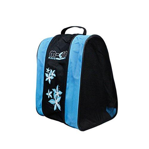 RUNACC Praktische Schlittschuhe Tasche Multifunktions Triangle Rollschuhe mit Schulter Tasche Langlebig Rollschuhe Tragetasche Handtasche, Netztasche Design (Blau/Rose) (BLAU)