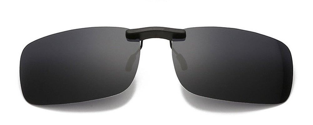 9b2f8956b4 DAUCO Gafas de Sol Polarizadas Clip Lentes de Espejo de Hombre Mujer ...