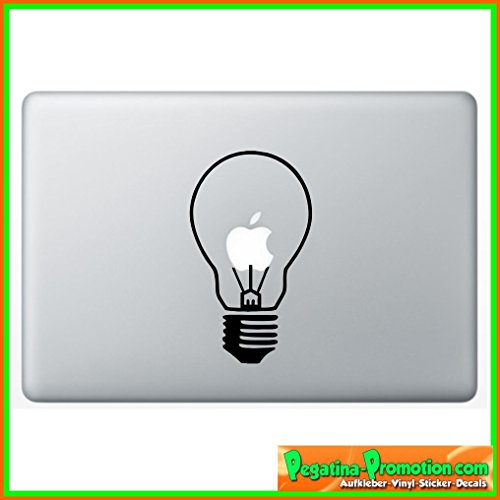 "Preisvergleich Produktbild ""Glühbirne Lampe Apple"" Aufkleber Sticker für Macbook Air 11 13, Macbook skin 13, 15, 17 Zoll inch Apple Notebook Aufkleber ohne Hintergrund Tattoo Vinyl PEGATINA Apple Mac"