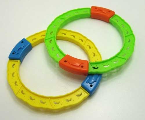 Tauchringe SET Kunststoff 2 tlg. verschiedene Farben, Tauch Taucher Spiel Ringe (LHS)