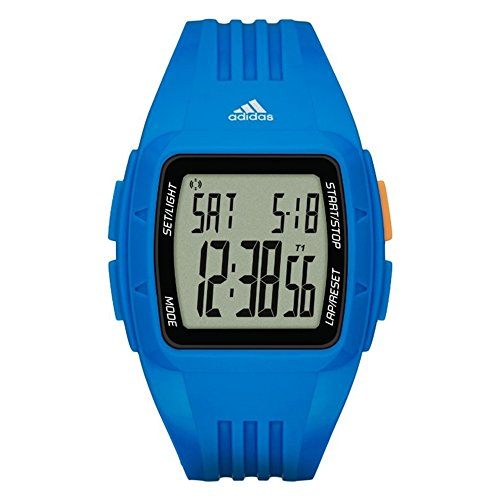 Adidas Unisex Quartz Watch with Blue Dial Chronograph Display and Blue Silicone Bracelet ADP3234