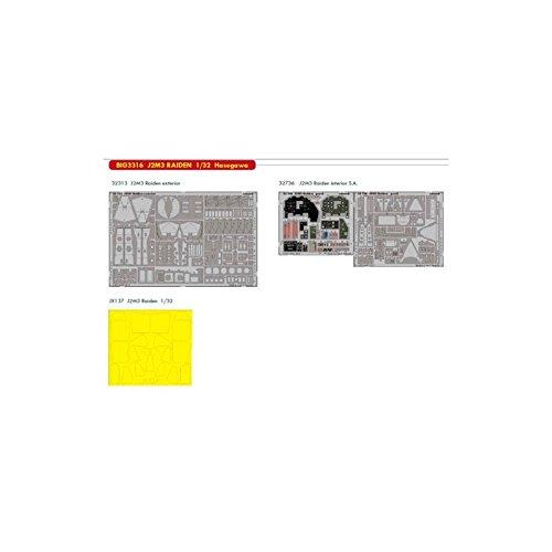 Eduard EDBIG3316 Big Ed Set 1:32-J2M3 Raiden (Hasegawa) Accesorios fotograbados, Varios