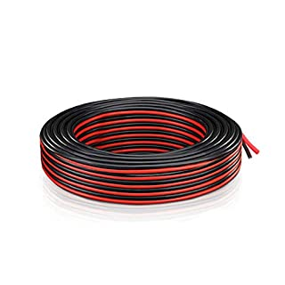 Electrical Wire 18 AWG - Extension Electric Cable 2 Cord (21.3 Meter Red + 21.3 Meter Black) Low Voltage DC Wire Hookup Copper Stranded For LED Strip, Lighting, Power Supply, Auto, Boat, By Brightfour