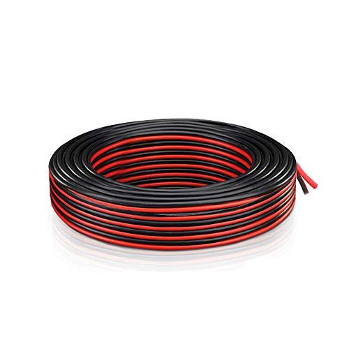 20 AWG Elektrischer Draht - Verlängerung Kabel Draht 2 Kabel 70 Fuß ( 21.3M Rot + 21.3M Schwarz) Niederspannung DC Wire Hookup Kupfer Stranded für Led Strip Driver, Auto und andere