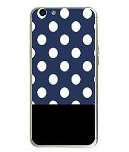 Fuson Designer Back Case Cover for Oppo F1s (Polka Black Design Serene)