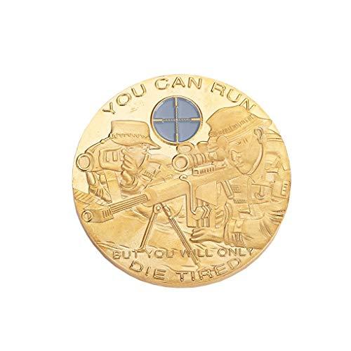 Bomcomi Gedenk Soldaten Sniper Münze Aim Muster geprägt Herausforderung Souvenir Sammlung Medaille Geschenk -